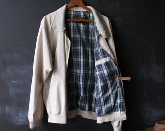 Vintage Mens Jacket Plaid Lining 70s to 80s Steve Mcqueen  Hipster Members Only Style  Frank Sinatra From Nowvintage