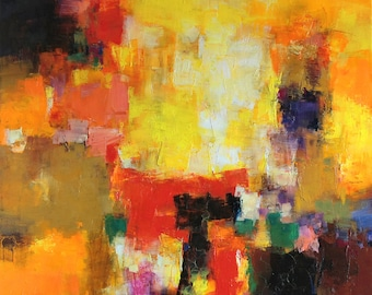 October 2014 - 4 - Original Abstract Oil Painting - 72.7 cm x 72.7 cm (app. 28.6 inch x 28.6 inch)