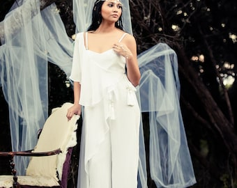 Sandy Bridal Jumpsuit with Wrap