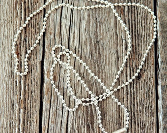 """1.5mm Sterling Silver Bead Ball Necklace, Sterling Silver Necklace, 24"""" Sterling Silver Chain, 30"""" Sterling Silver Chain, 36"""" Silver Chainn"""