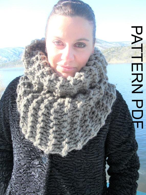 Knitting Pattern Outlander Cowl : Knitting PATTERN Chunky Cowl Scarf PDF Beginner DIY