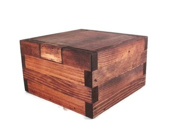 Rustic Memory Box  - Dark Wood Keepsake Boxes