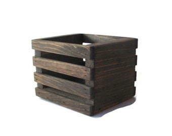 Wood Crate Centerpiece or Planter - Country Home and Garden Decor