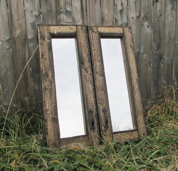 Wood Medicine Cabinet Rustic Furniture Dark Walnut
