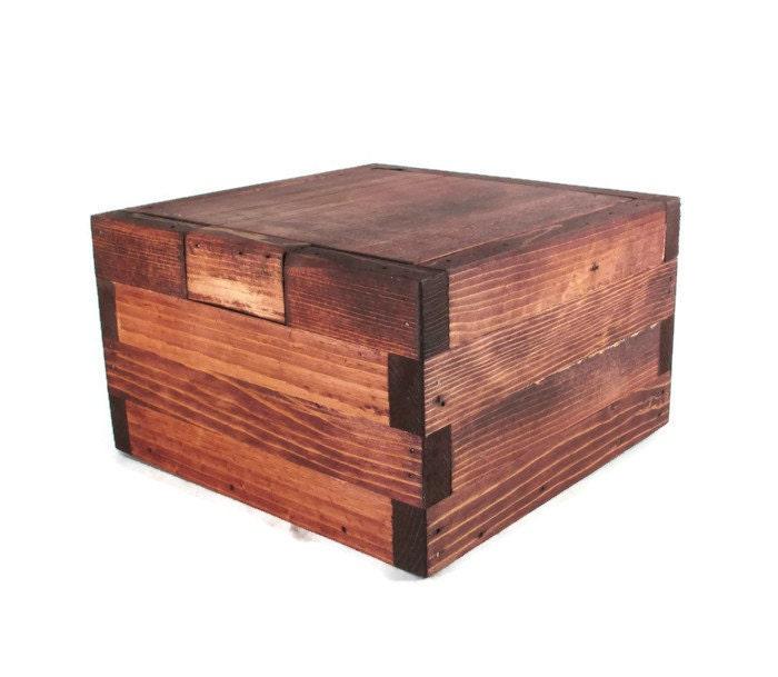 Rustic memory box dark wood keepsake boxes - Small rustic wooden boxes ...