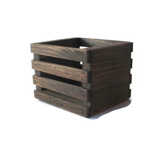 Wood crate centerpiece or planter country home and garden