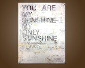 you are my sunshine - 18 x 24, original modern contemporary acrylic PAINTING canvas, abstract painting, black friday