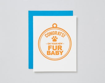 Congrats on Your New Fur Baby Card
