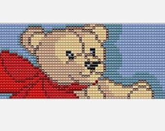 Teddy Bear Hugs Bead Loom Cuff Pattern