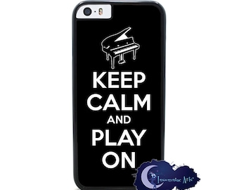 Keep Calm and Play On, Piano - iPhone Cover, Case