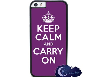 Keep Calm and Carry On, Purple - iPhone Cover, Case