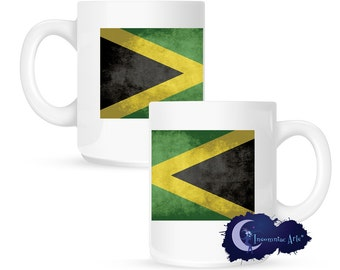 Flag of Jamaica 15 oz Coffee Mug