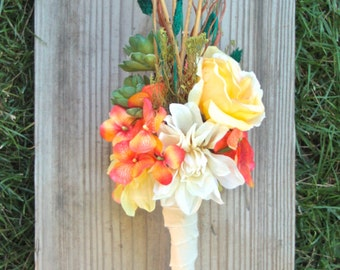 Indian Summer, Flowers & Twigs Bouquet for Brides or Bridesmaids