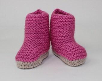 Instant Digital File pdf download Knitting pattern- Baby Chunky Big BootiesBooties pdf download knitting pattern