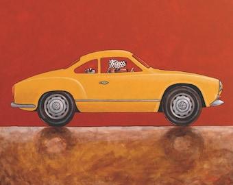 """080 Karmann Ghia – print 38x38cm/15x15"""""""