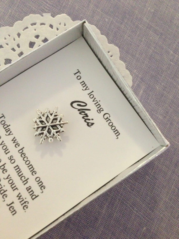 Wedding Party Groomsmen Gifts : Tie clip snowflake groomsmen gifts groom wedding party