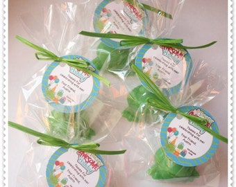 Frogs Princess and Frog Frog Prince Kiss a Frog Toadally Awesome Frog Hoppin Pond Party Favors Handmade Soap (20 complete favors with tags)