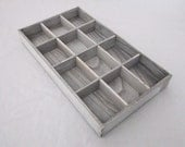 Rustic Antique White Wash Bead Sorting Tray With 12 Slots SALE