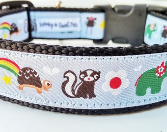 Happy Friends - Dog Collar / Adjustable / Handmade / Pet Accessories / Pet Lover / Gift Idea