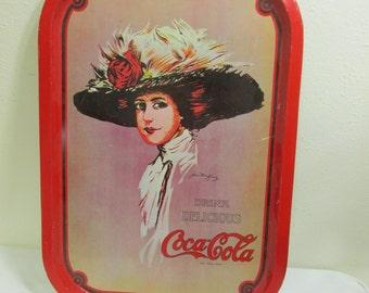 Coca Cola Tray Victorian Lady Drink Tray Signed Hamilton King