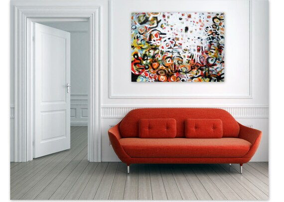 Abstract Expressionist Painting Original Contemporary Wall Art - The Places We Go by Jessica Torrant - Free US Shipping
