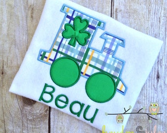 St. Patricks Day Train Shirt - Personalized, Monogrammed, Applique