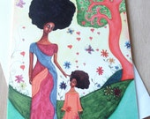 African American Greeting Card 'Love Surrounds'
