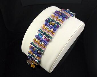Multi-Colored Woven Bead Bracelet
