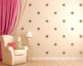 "Gold Polka Dot Wall Decals, Polka Dot Stickers Kids Wall Decals, Peel and Stick, 2.5"" Polka Dots"