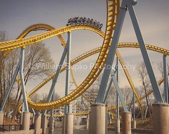 Skyrush at Hersheypark Roller Coaster Poster Print