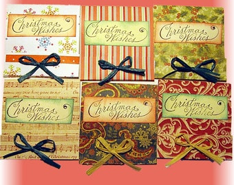 Christmas Note Cards, Dessert Tea Gift Cards, Holiday Greeting Cards, Set of 12 Cards for Co-Workers, Friends, Teachers, Hairdresser,Mailman