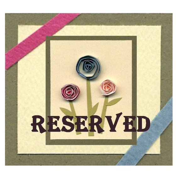 RESERVED: Customized First Year, Romantic, Love, Pink, Black, Burgundy, Brown, and Green