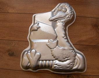 Items Similar To Vintage Cake Pan Big Bird Sesame Street
