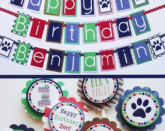 Boy Puppy Dog Birthday Party Decorations Package Fully Assembled