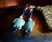 Sea Turtles Turquoise Earrings