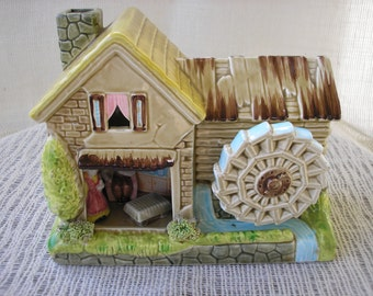 Diorama Music Box Vintage  Ceramic Music Box Plays I Did It My Way Dutch House  Music Box Collectible Music Box Vintage in Paradise