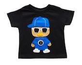 Rad Rapper - Clock - Toddler T-Shirt [BLACK]