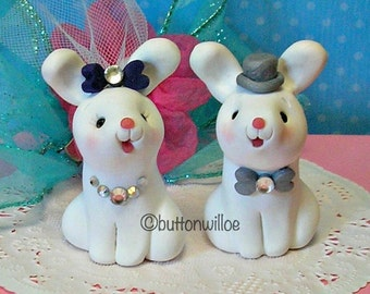 SALE!!!  Bunny Wedding Cake Topper Ready to Ship