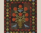 Flower Urn, Quilt Pattern by Bonnie Sullivan, All Through the Night Patterns