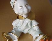 Vintage Italian Baby Clown Porcelain Figurine Creazioni Aurora Porcellane
