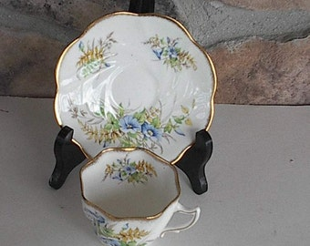 Rosina Cup &  Saucer with  Gold Trim