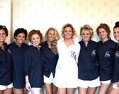 Monogrammed Button Down Bridesmaid Shirts , Bridesmaids Gift Shirt, Wedding Party Gift Set of 8