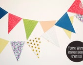 Premade: Young Women Pennant Banner-Printed (6.5yds)