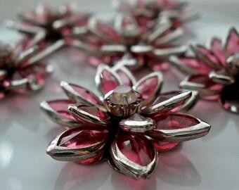 Rhinestone Flower Cabochon (5)