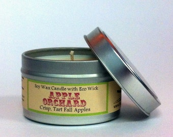 Apple Candle / Soy Candle in Travel Tin