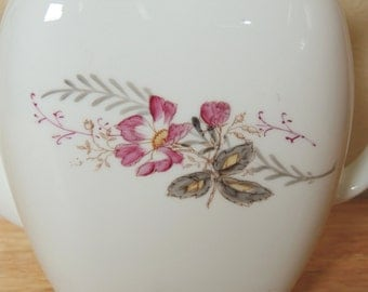 Elegant European White with Pink Flower Teapot
