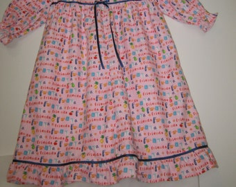 Friends and Fruit Print Nightie size 3