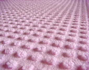 Pink Morgan Jones Pops Vintage Chenille Fabric 12 x 24 Inches