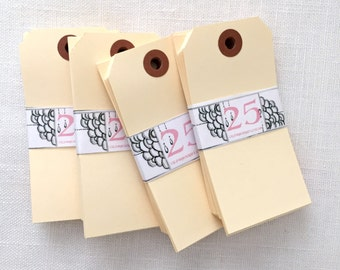 Large Manila Gift Tags - set of 100 - Large Parcel Tags
