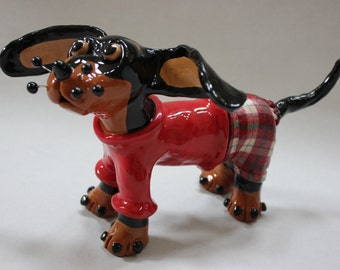 Pickles the Pup Ceramic Dog Sculpture - Custom Pieces Available Upon Request